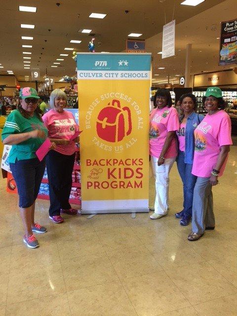 Mu Lambda Omega Chapter Supports Backpacks for Kids Programs