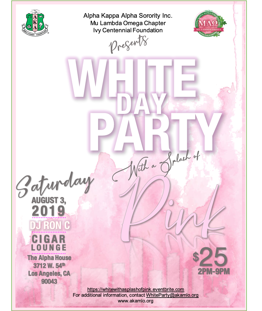 MLO's White Day Party With A Splash Of Pink