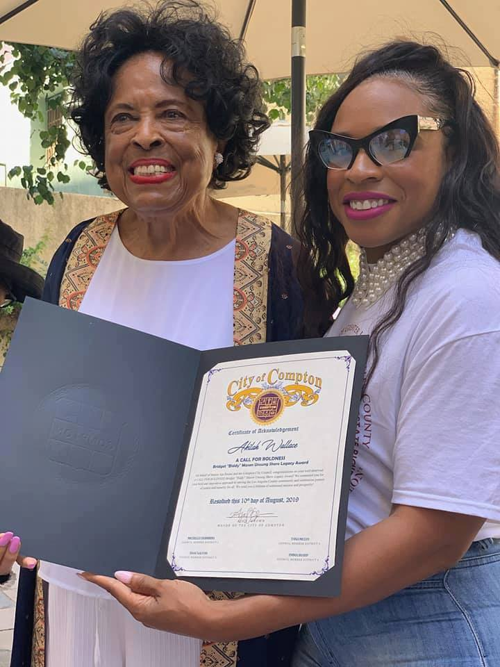 Chapter President Receives Biddy Mason Unsung Shero Award