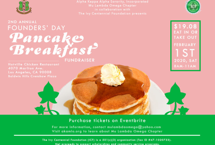 MLO 2nd Annual Founders' Day Pancake Breakfast Fundraiser