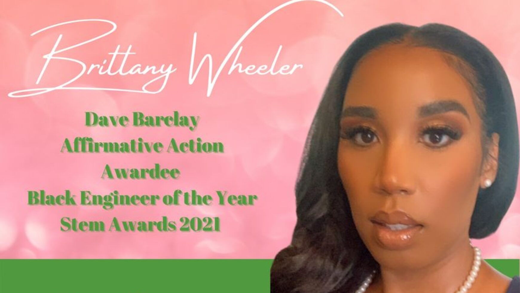 MLO Congratulates Brittany Wheeler as Black Engineer of the Year!